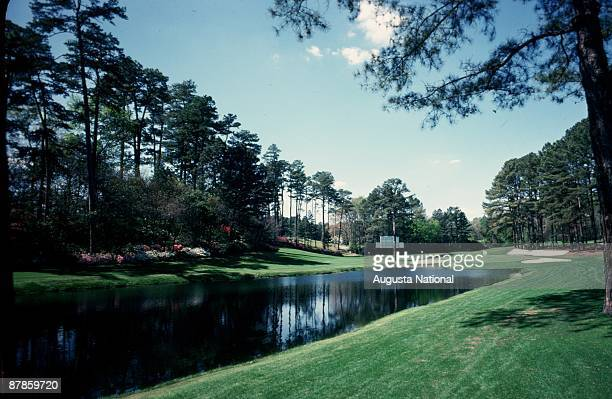 The 16th hole during the 1976 Masters Tournament at Augusta National Golf Club in April 1976 in Augusta Georgia