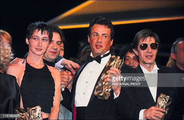 The 17 st Cesar awards in Paris France in February 1992 Sylvester Stallone Anne Brochet Cesar for the Best Supporting Actress with All the Mornings...