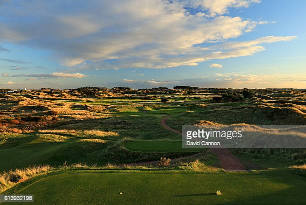 The 173 yards par 3 seventh hole at Royal Birkdale Golf Club the host course for the 2017 Open Championship on October 10 2016 in Southport England