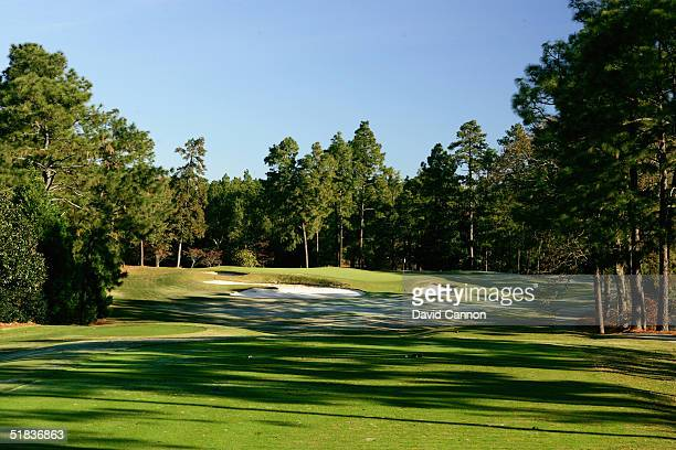 The 175 yard apr 3 9th hole on The Pinehurst No 2 Course venue for the 2005 US Open on November 14 in Pinehurst North Carolina USA