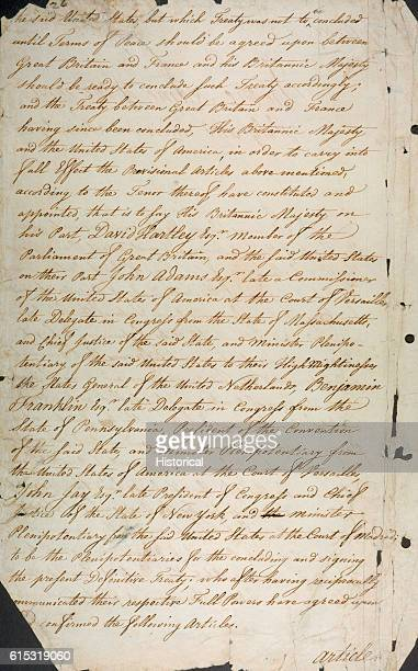 Treaty Of Paris 1783 Stock Photos And Pictures Getty Images