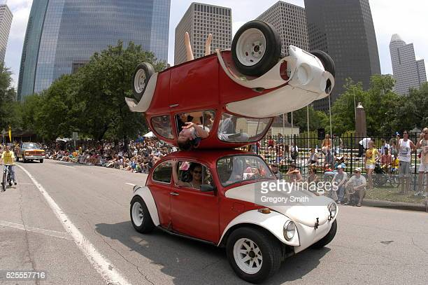 The 17th annual Everyones Art Car Parade in downtown Houston This year's 280 car event is known for it's different art forms of transporation