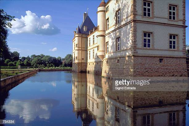 The 17th century Chateau Cormatin north of Macon in Burgundy is surrounded by a geometric pond of water and magnificient parks Once inside the...