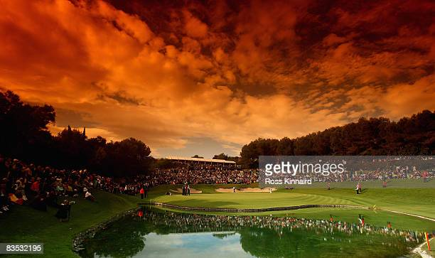 The 17th green a Valderrama during the final round of the Volvo Masters at the Valderrama Golf Club on November 2 2008 in Sotogrande Spain