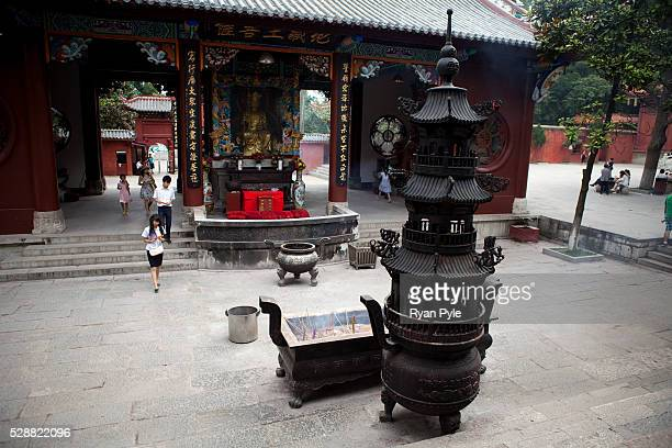 The 17th-century Hongfu Temple in northern Guiyang is in Qianling Park, located in the northwest of Guiyang, Guizhou Province, and is considered to...