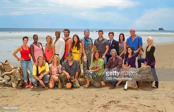 The 18 castaways backrow lr Kristina Kell Francesca Hogi Ashley Underwood Phillip Sheppard Grant Mattos Natalie Tenerelli Ralph Kiser Mike Chiesl...