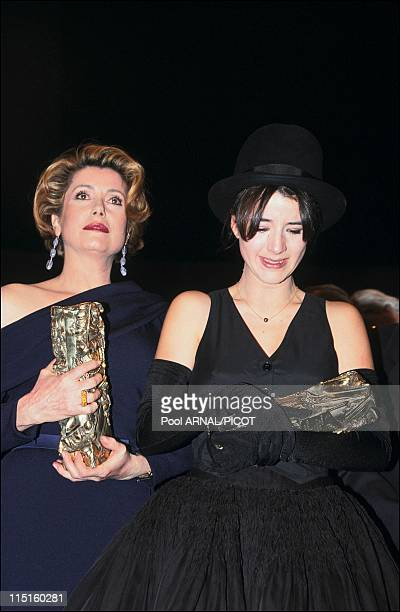 The 18 st 'Cesar' awards Embargo Parillaud in Paris France in February 1993 Romane Bohringer Cesar for The Best Actress with 'The wild nights' Cyril...