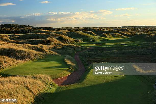 The 184 yards par 3 12th hole at Royal Birkdale Golf Club the host course for the 2017 Open Championship on October 10 2016 in Southport England