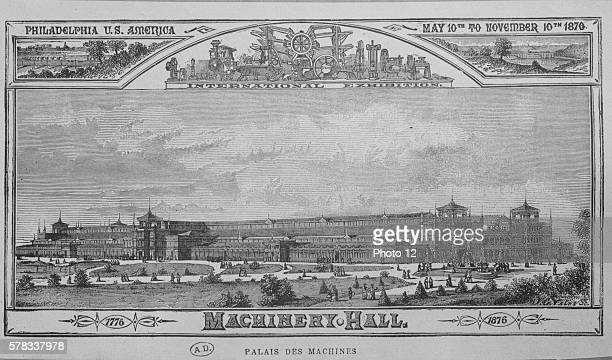 The 1876 Centennial Exposition in Philadelphia Poster designed for the World's Fair which was held from May 10 to November 10 1876