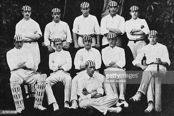 The 1890 Harrow public school cricket team Back left to right AHM Butler Matthews Micah Barlow John Bevington HM Peebles Centre left to right James...