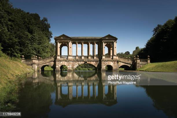 The 18th century Palladian Bridge at Prior Park in Bath taken on June 11 2018