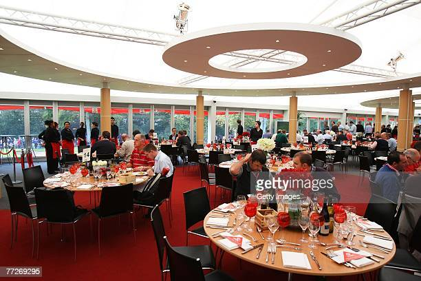 The 18th Green Hospitality/Hexagon Suite during the First Round of the HSBC World Matchplay Championship at The Wentworth Club on October 11, 2007 in...