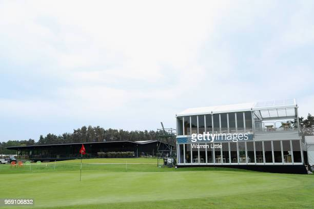 The 18th green is pictured ahead of the Belgian Knockout at the Rinkven International GC on May 16 2018 in Antwerpen Belgium