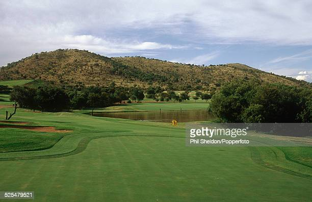 The 18th green of the Sun City Golf Course in South Africa circa 1995