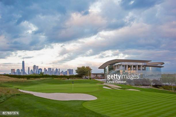 The 18th hole at Liberty National Golf Club host course of the 2017 Presidents Cup in Jersey City New Jersey on Ocotber 3 2016