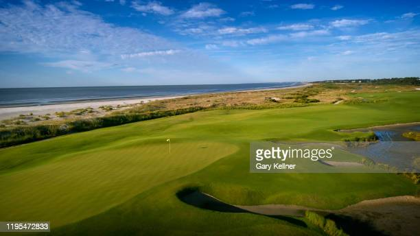 The 18th hole of the Ocean Course at Kiawah Island Golf Resort, the future site of the 103rd PGA Championship, on November 16 in Kiawah Island, South...