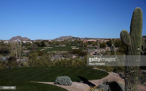 The 18th hole on the Monument Course at the Troon North Golf Club Scottsdale on January 4 2013 in Scottsdale Arizona
