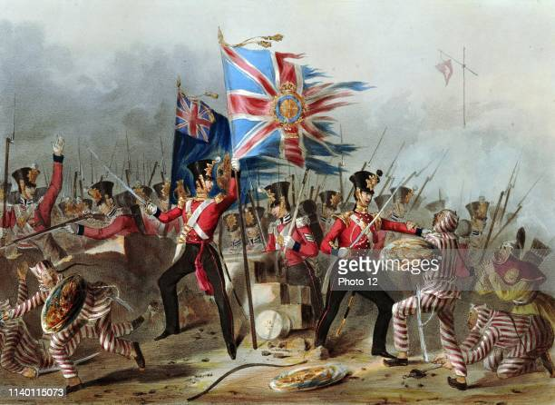 The 18th Regiment of Foot at the storming of the forts of Amoy 1841 The Battle of Amoy was fought between British and Chinese forces in Amoy China on...