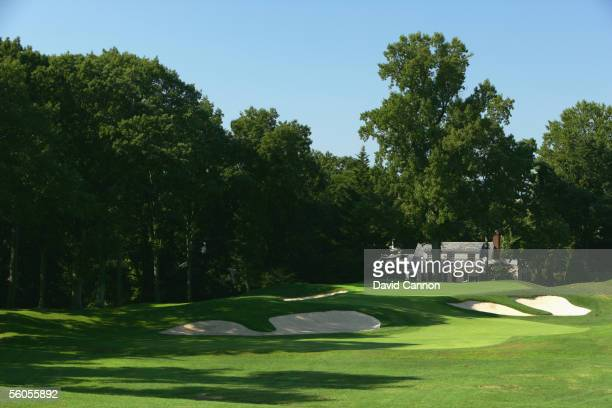 The 190 yard par 3, 10th hole 'Pulpit' on the West Course at Winged Foot Golf Club venue for the 2006 US Open, on September 19, 2005 in Mamaroneck,...