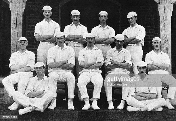 The 1904 Eton public school cricket team Back left to right JJ Astor HC Cumberbatch CE Severne and Charles Farmer Centre left to right Charles...