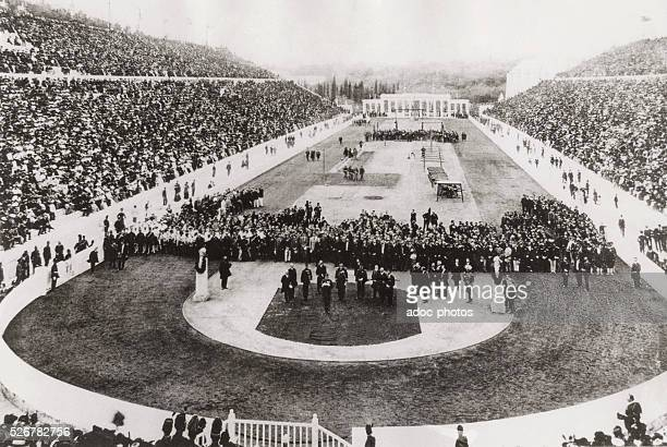 The 1906 Olympic Games in the Panathinaiko Stadium in Athens In April 1906