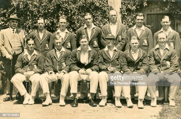 The 1928-29 MCC England touring team which played in the opening tour match against Western Australia at the WACA ground in Perth, 18th October 1928....