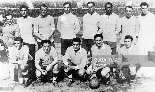 The 1930 Uruguay football team winners of the first World Cup competition The team comprises of Alvero Gestido Jose Mazassi enrique Ballestrero...