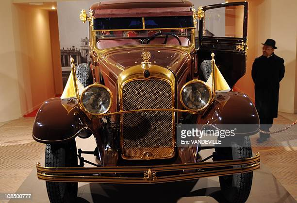 The 1930s Citroen C6 Lictoria of Pius XI , who was Pope when the pacts were signed . He is the true 'founder' of Vatican City State . The exposition...