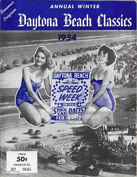 """The 1954 program for NASCAR's annual beachroad racing """"Speed Week"""" winter events carried the label """"Daytona Beach Classics"""" and was sold for fifty..."""