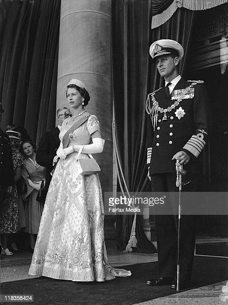 The 1954 tour of Australia by Queen Elizabeth II and the Duke of Edinburgh Prince Phillip The Royal couple at the Sydney Town Hall in January 1954 jo