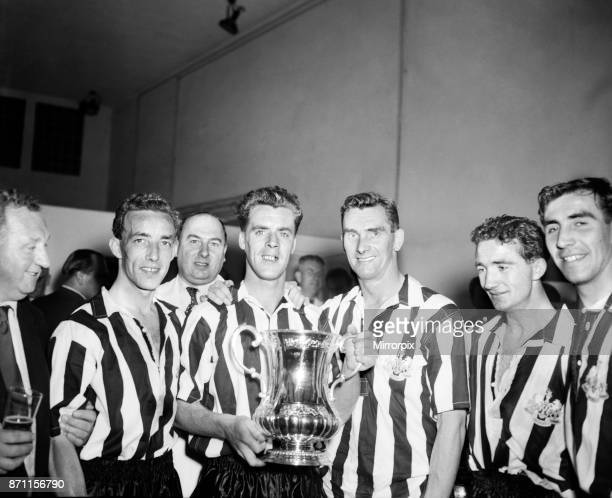 The 1955 FA Cup Final was contested by Newcastle United and Manchester City at Wembley Newcastle won 3–1 with goals from Jackie Milburn in the first...
