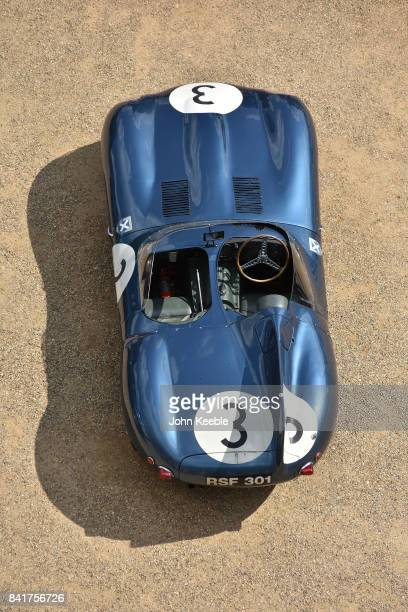 The 1957 Le Mans winning car number 3 is shown in celebration of the 60th anniversary of Jaguar's 12346 finish at the 1957 Le Mans 24 hour race Five...