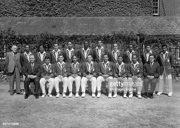 The 1957 West Indies Touring Team for the Second Test against England at Lord's Back Row L to R Wilf Ferguson Andy Ganteaume Nyron Sultan Asgarali...