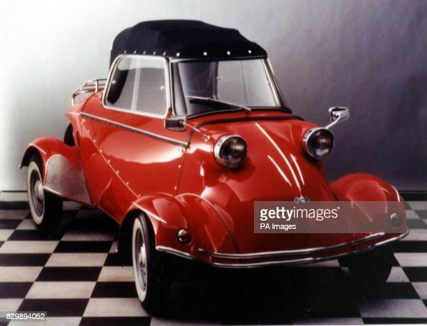 The 1960 Tg 500 Tiger bubble car which is the top lot in a sale of the Bruce Weiner Microcar collection at Christie's in London on March 6 1997 The...