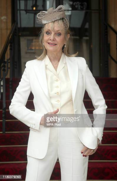 """The 1960s supermodel Lesley """"Twiggy"""" Lawson arrives at Buckingham Palace where she will be made a Dame Commander of the Order of the British Empire..."""