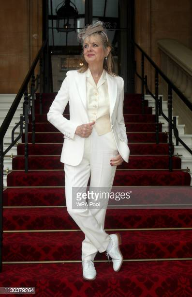 "The 1960s supermodel Lesley ""Twiggy"" Lawson arrives at Buckingham Palace where she will be made a Dame Commander of the Order of the British Empire..."