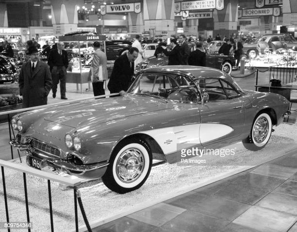 The 1961 Chevrolet Corvette, to be launched next year, on display the the London Motor Show