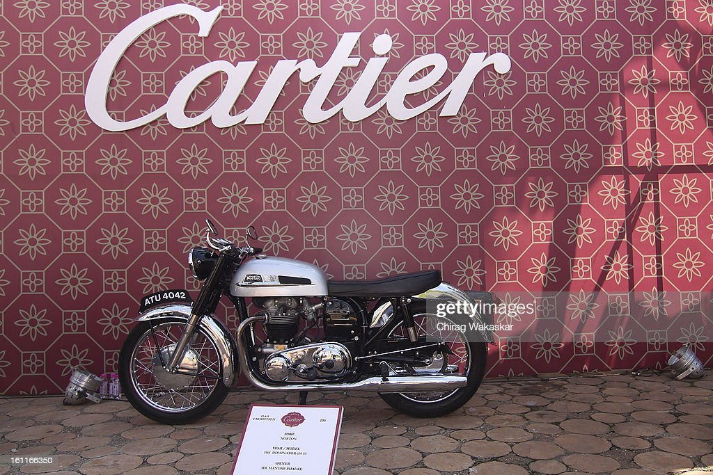 The 1964 Dominator 650 SS Norton during Cartier 'Travel With Style' Concours 2013 Opening at Taj Lands End on February 9, 2013 in Mumbai, India.