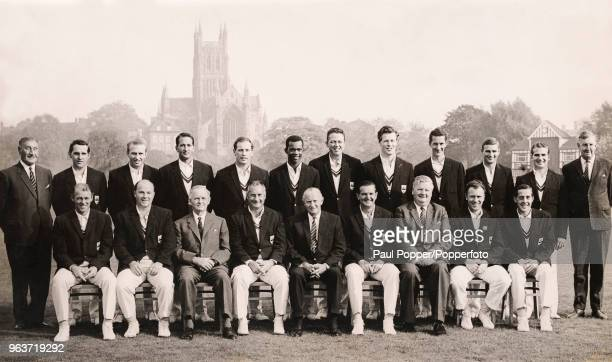 The 1965 County Championship winning Worcestershire Cricket team line up for a group photo at New Road in Worcester England Back row W Powell Doug...
