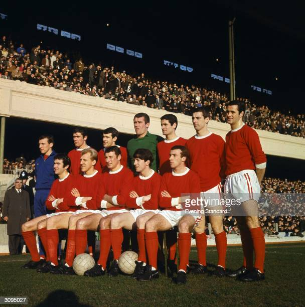 The 1966 1967 Arsenal team lined up at Highbury before playing Chelsea 4th February 1967 Back row left to right Bob McNab Peter Simpson Peter Storey...