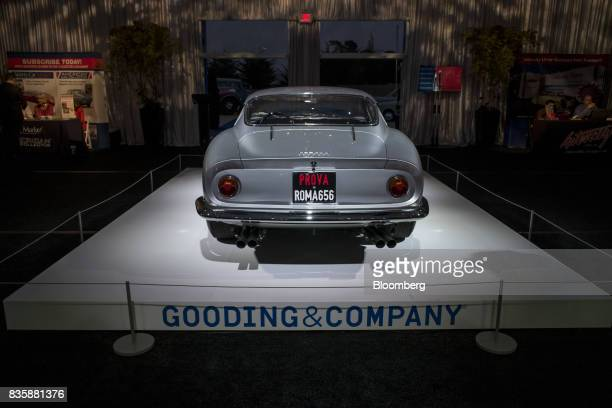 The 1966 Ferrari 275 GTB/C sits on display at the Gooding and Company auction during the 2017 Pebble Beach Concours d'Elegance in Pebble Beach...
