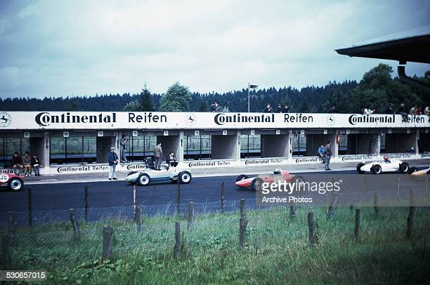The 1966 German Grand Prix at the Nürburgring Nordschleife in Nürburg, Germany, 7th August 1966.