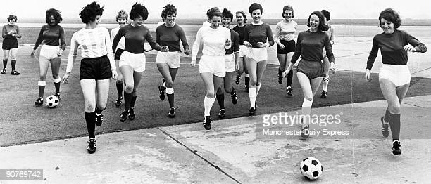 The 1966 World Cup football championship was held in England Here air and ground stewardesses with British European Airways model the competition...
