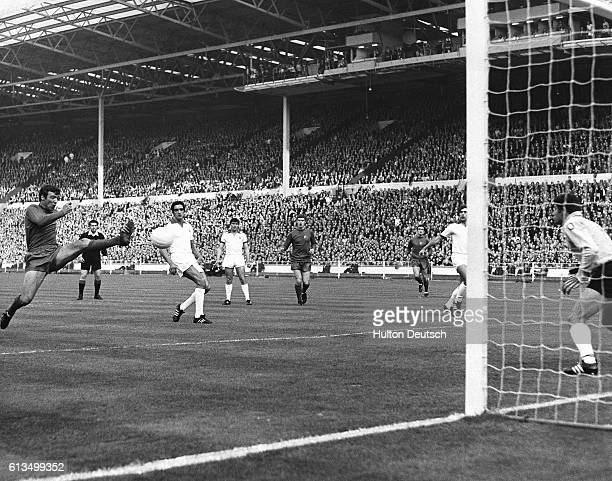 The 1968 European Cup Final held at Wembley London between the winners Manchester United and the Portuguese team Benfica