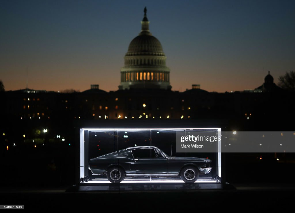 "Famous ""Bullitt"" Mustang On Display On National Mall In D.C."