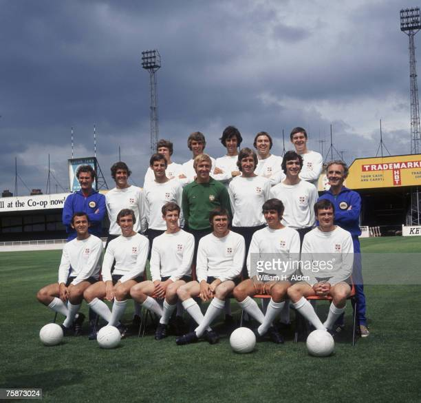 The 1971 Luton Town FC team at their Kenilworth Road ground Luton