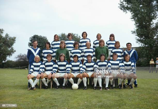 The 1973/74 Queens Park Rangers squad pictured at their South Ruislip training ground left to right back row John Beck Ian Gillard Ian Evans Mike...