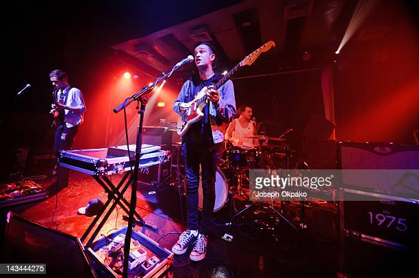 The 1975 perform at Scala on April 26 2012 in London England