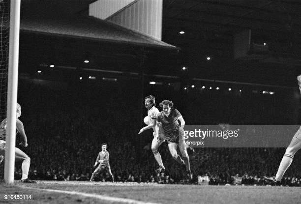 The 1978 Football League Cup Final between Liverpool Fc and Nottingham Forest Fc: Jimmy Case and Forest captain Kenny Burns contest the ball, 22nd...