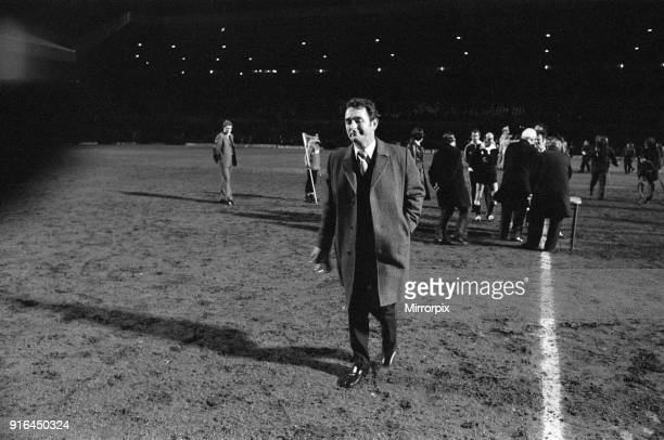 The 1978 Football League Cup Final between Liverpool Fc and Nottingham Forest Fc: Nottingham Forest manager Brian Clough walks off with his trophy...